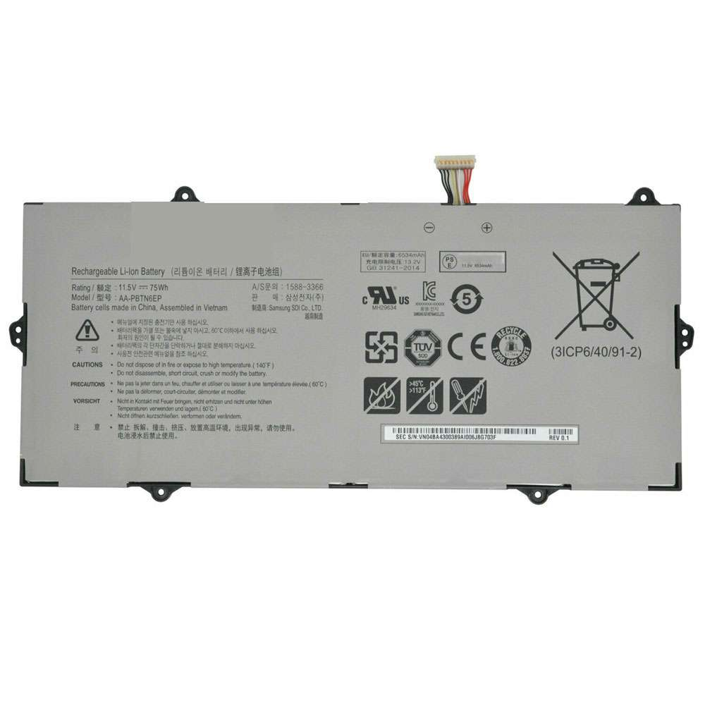 Replacement for Samsung AA-PBTN6EP battery