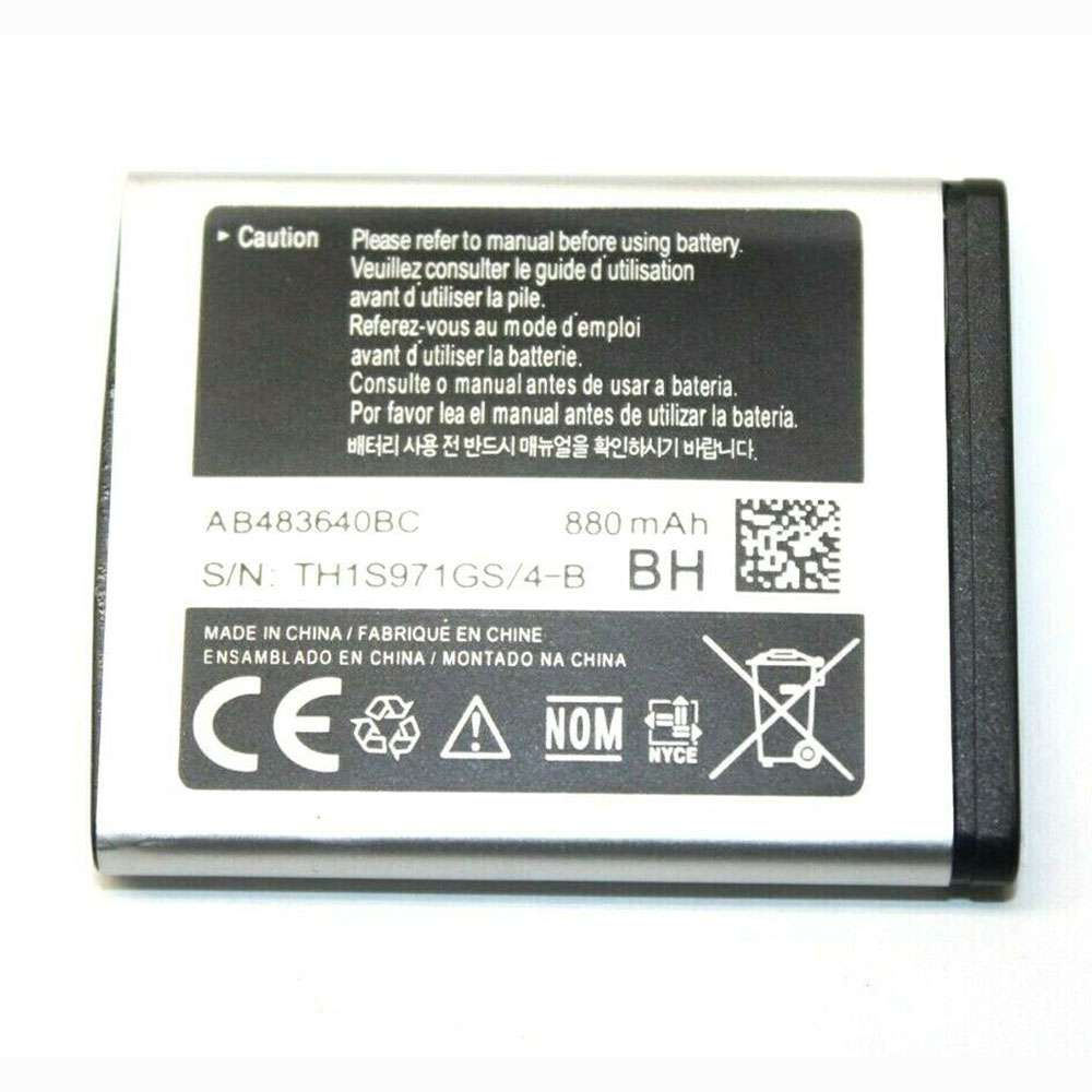 Replacement for Samsung AB483640BC battery