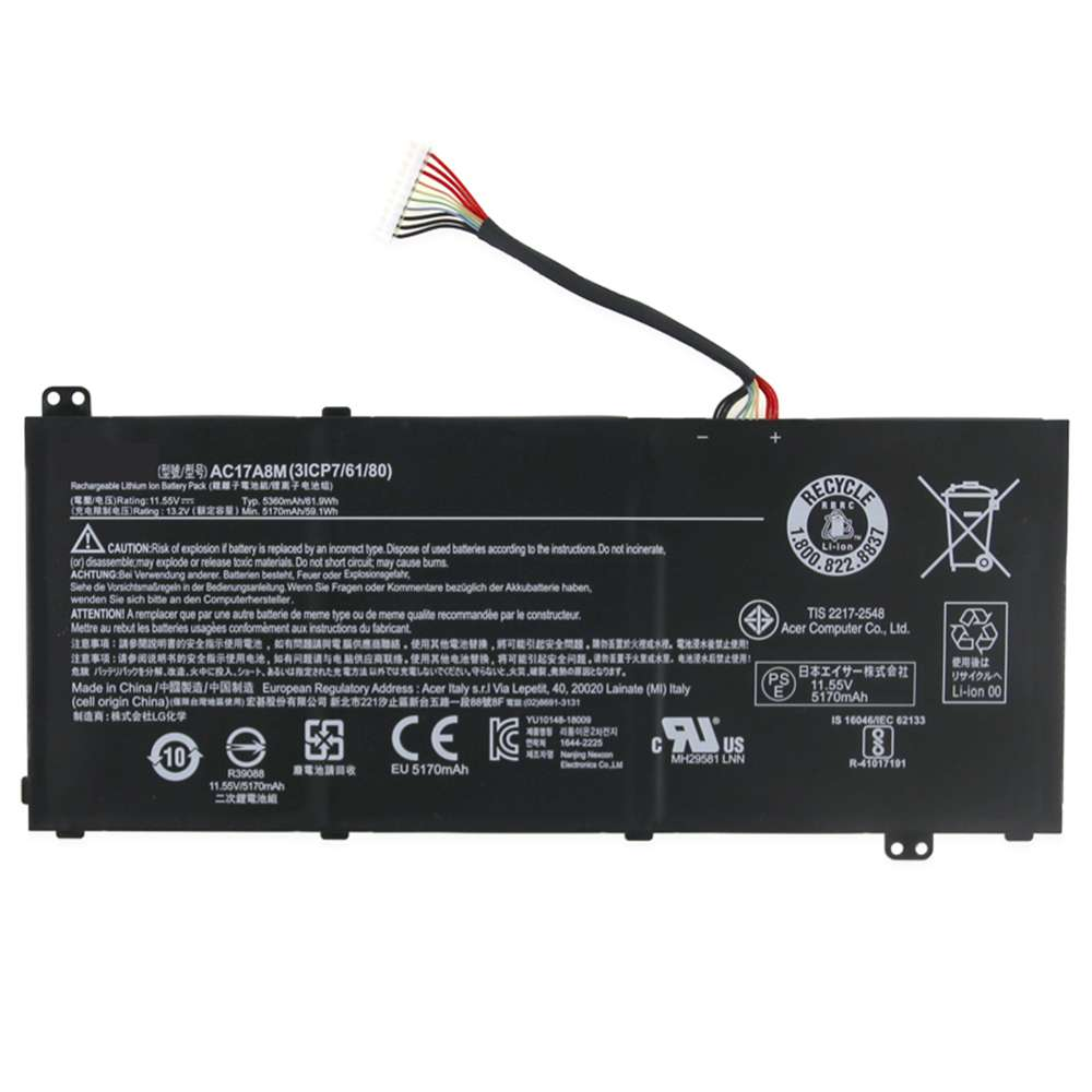Acer AC17A8M replacement battery