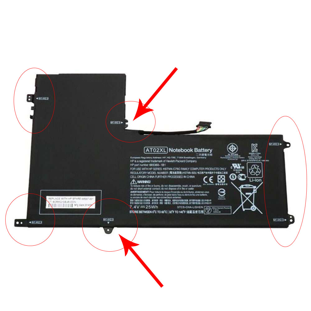 Replacement for HP AO02XL battery