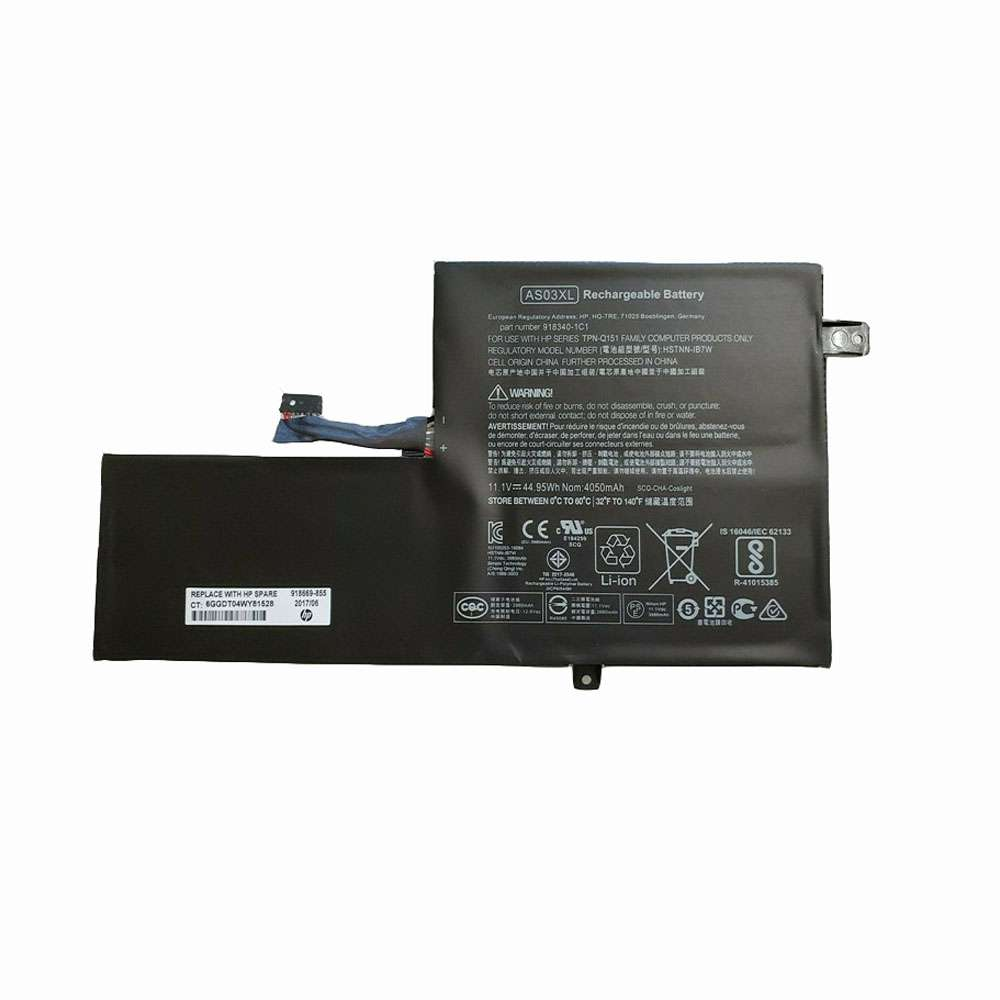 Replacement for HP  AS03XL battery