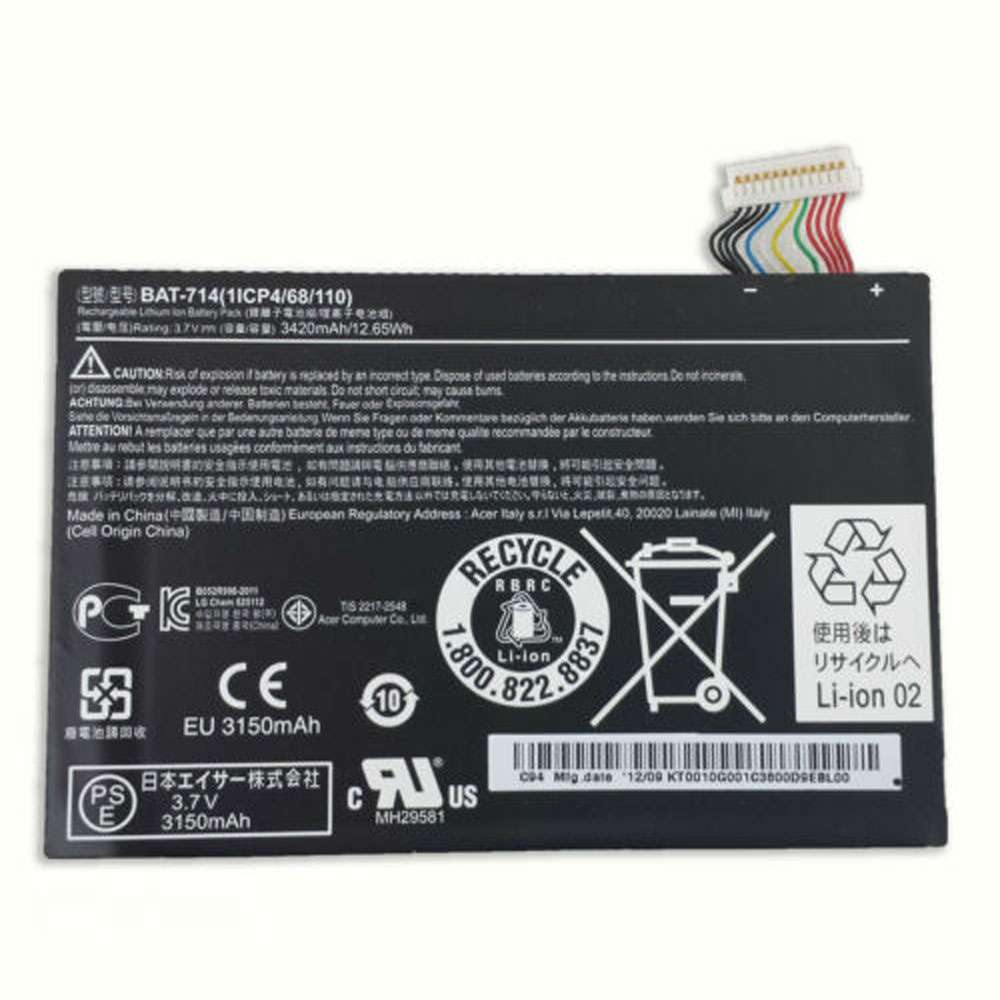 Acer Iconia Tab A110 DR-A110 Battery
