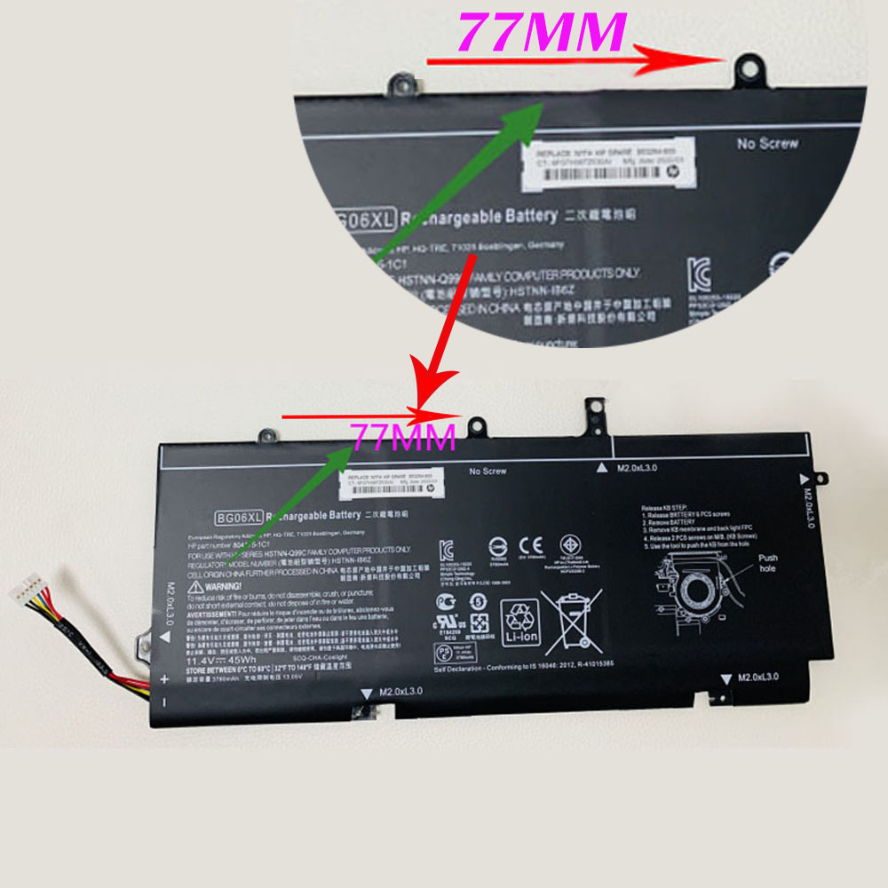 Replacement for HP BG06XL battery