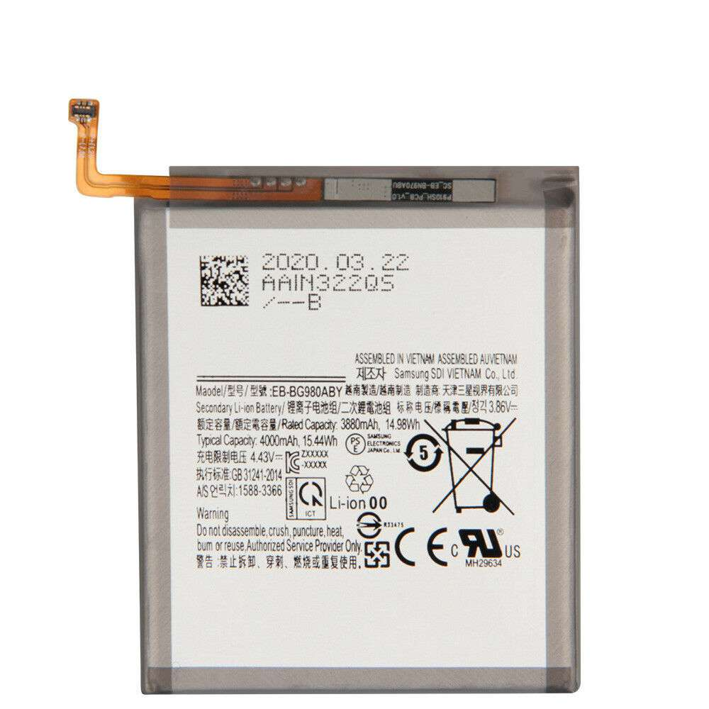 Replacement for Samsung EB-BG980ABY battery