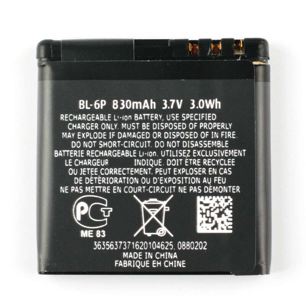 Replacement for Nokia BL-6P battery