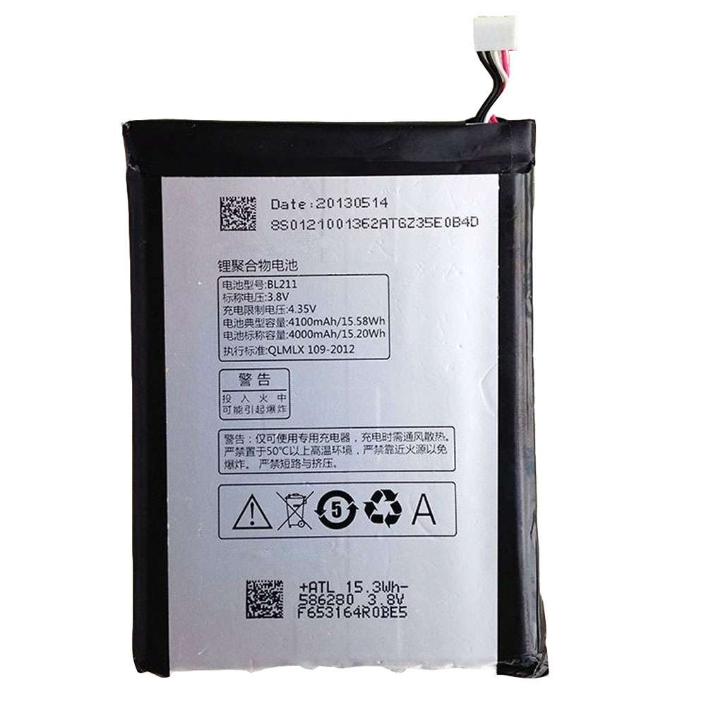 Replacement for Lenovo BL211 battery