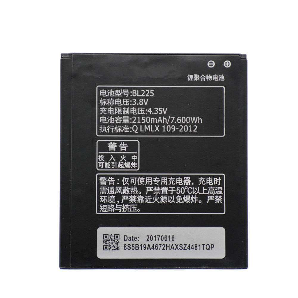 Replacement for Lenovo BL225 battery