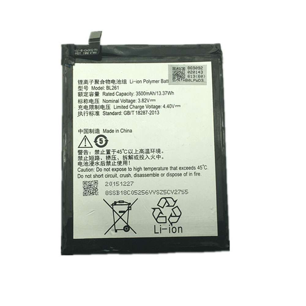Replacement for Lenovo BL261 battery