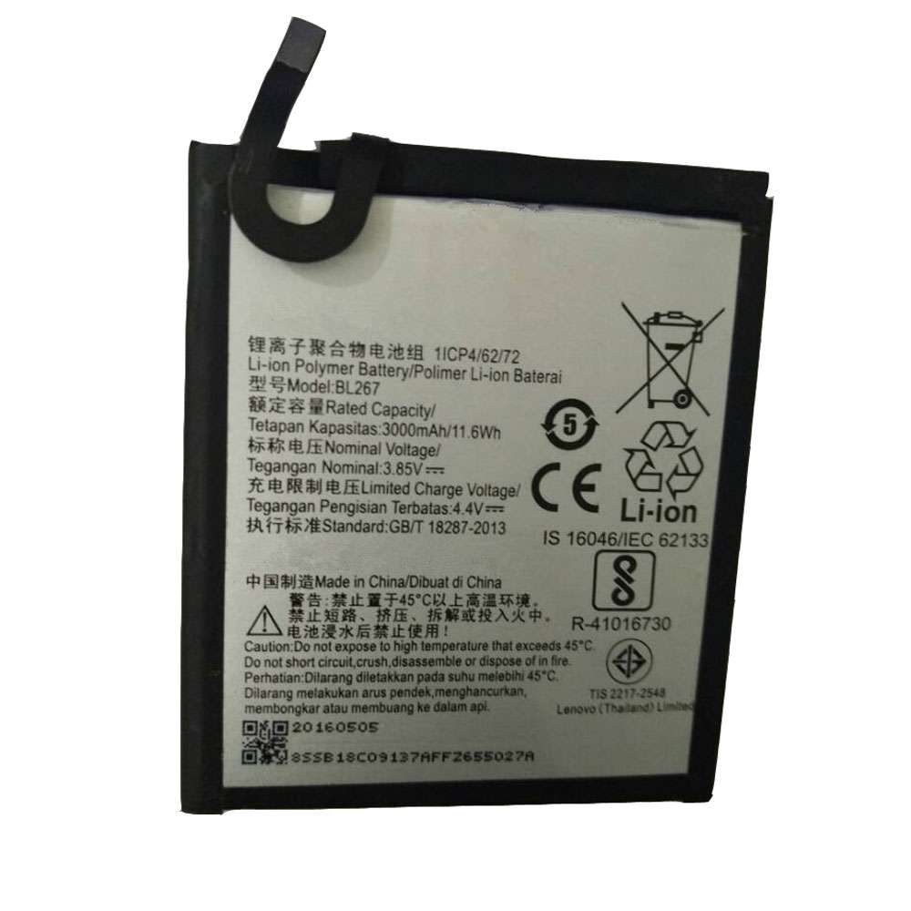 Replacement for Lenovo BL267 battery