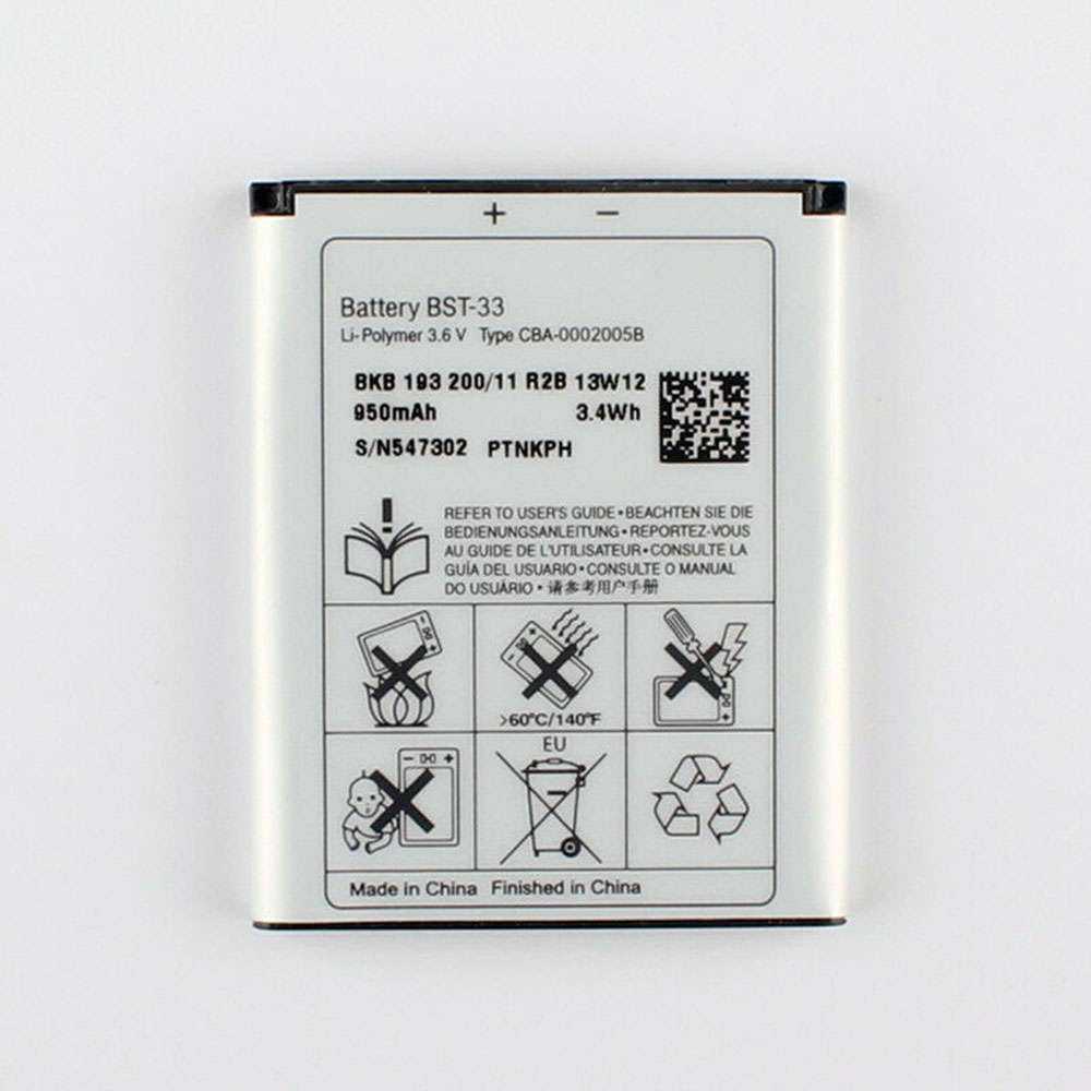 Sony BST-33 replacement battery