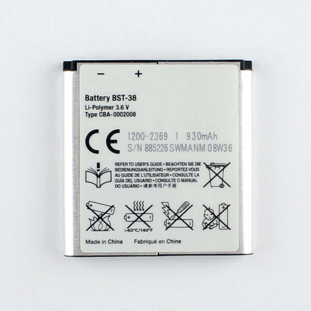 Sony BST-38 replacement battery