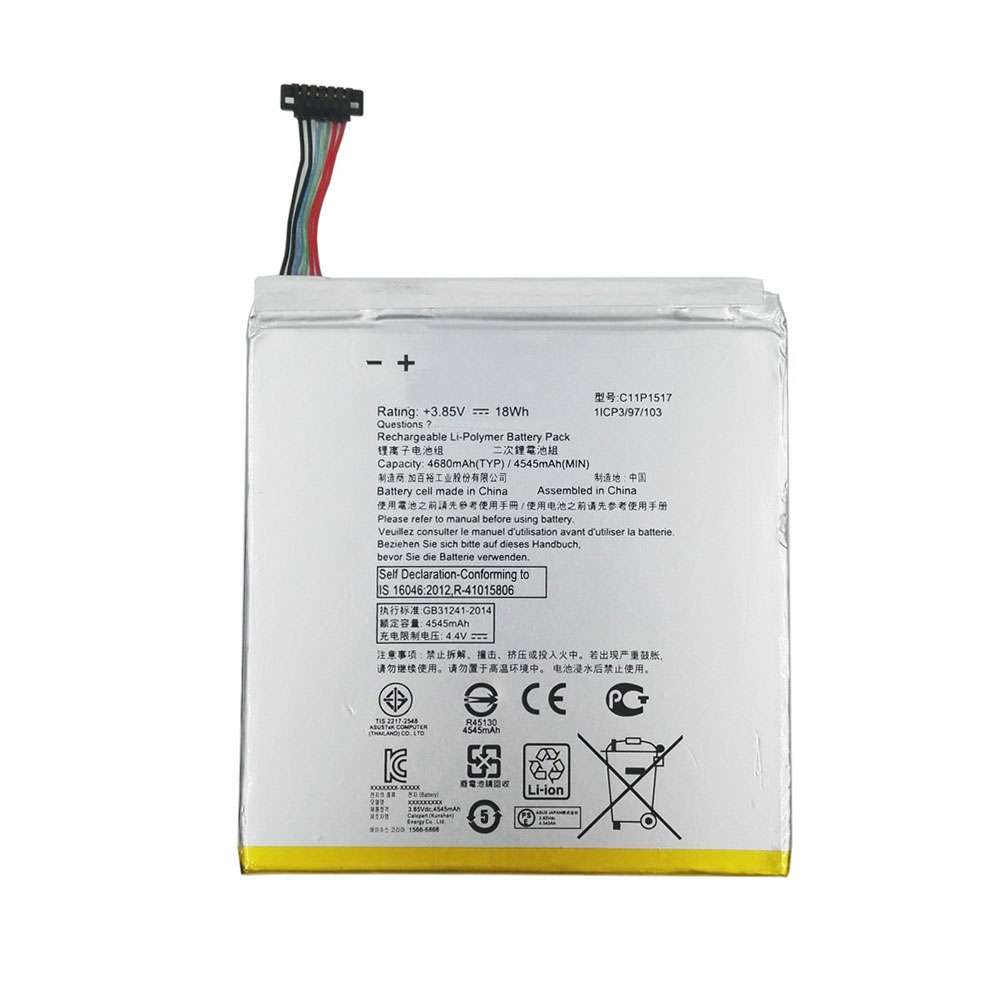 Replacement for Asus C11P1517 battery