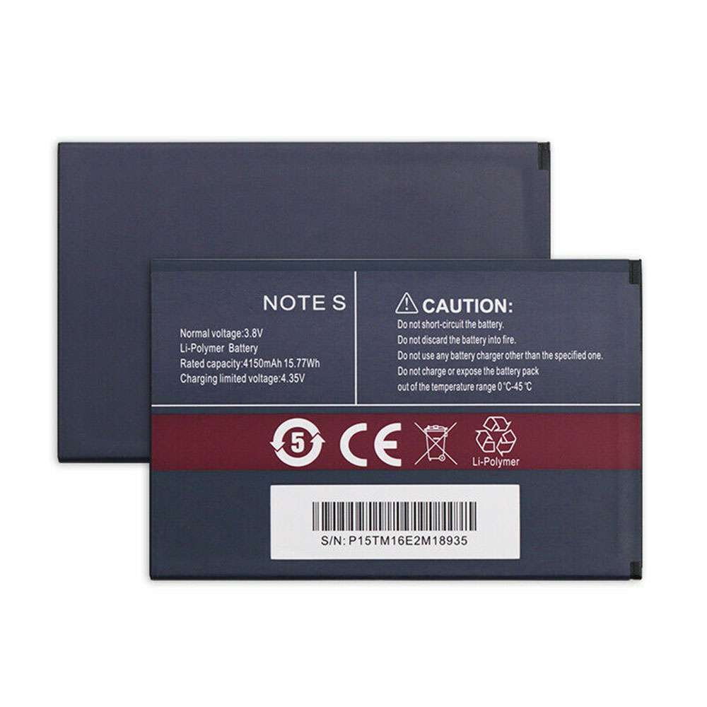 Replacement for Cubot Note S battery