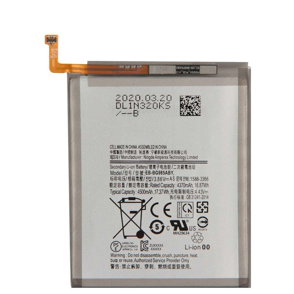 Replacement for Samsung EB-BG985ABY battery