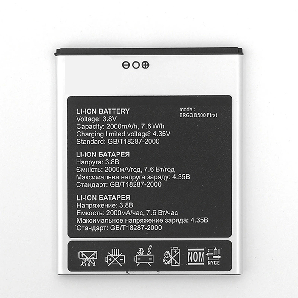 Ergo B500 replacement battery