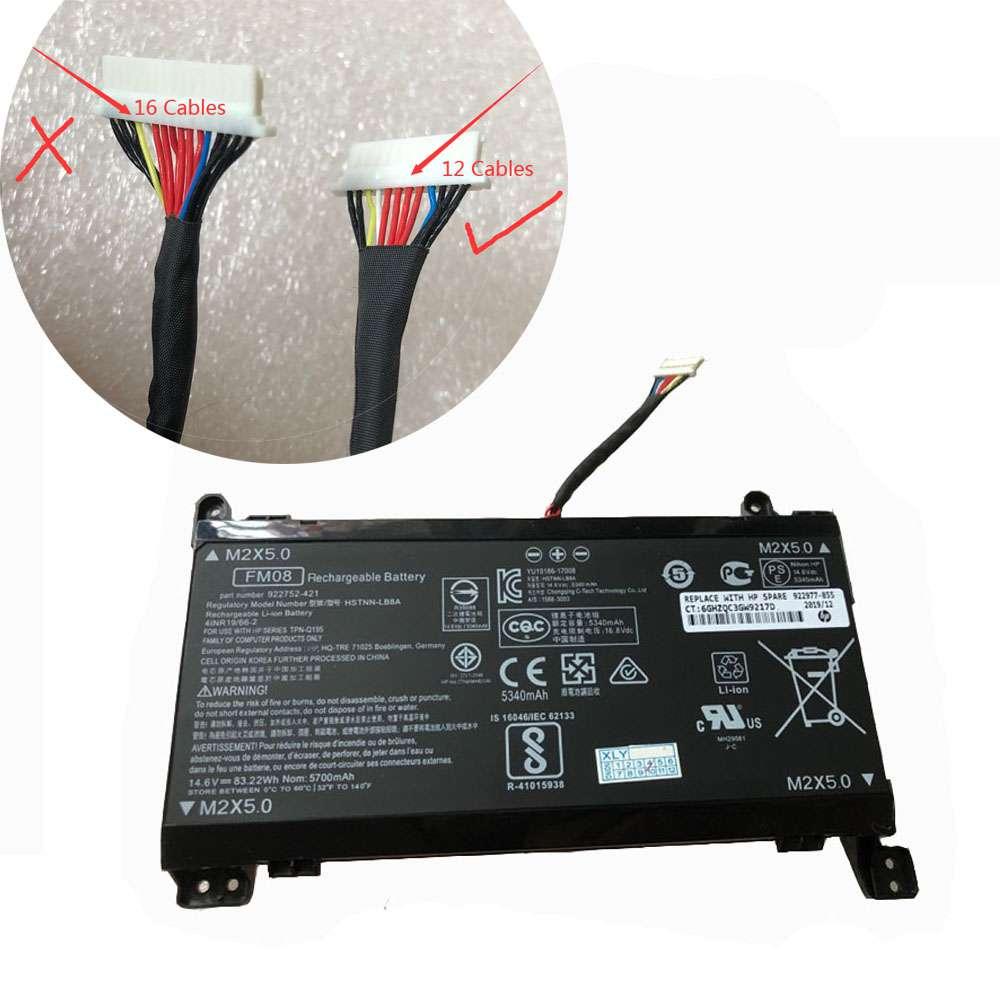 HP OMEN 17-AN013TX 17-AN014TX HSTNN-LB8B 922753-421 12 Cables