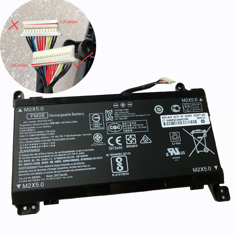 Replacement for HP FM08 battery