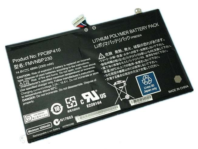 Replacement for Fujitsu FPCBP410 FMVNBP230 battery