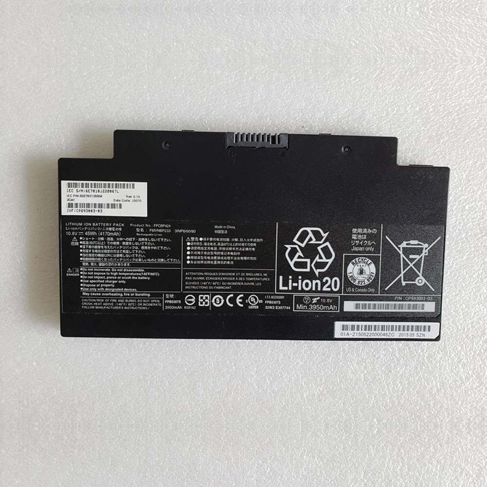 Replacement for Fujitsu FPCBP424 battery