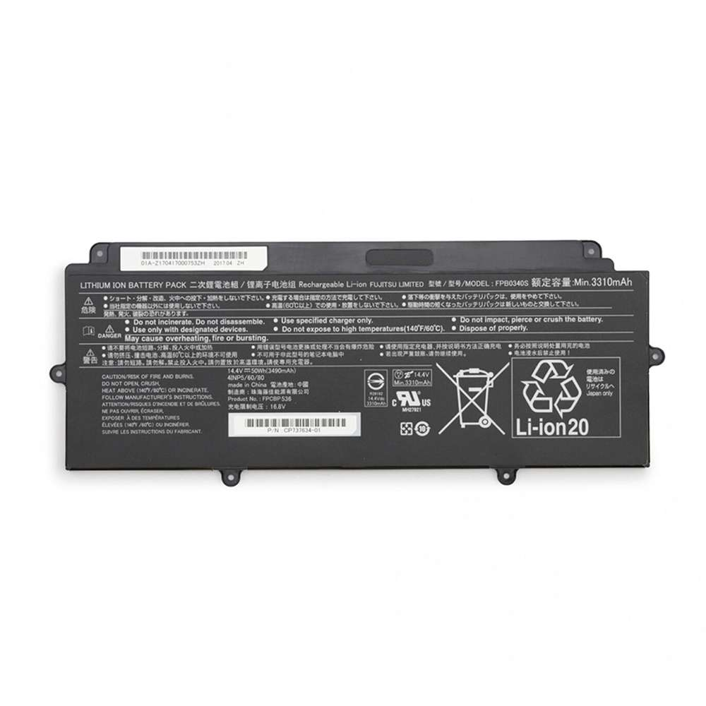 Replacement for Fujitsu FPCBP536 battery