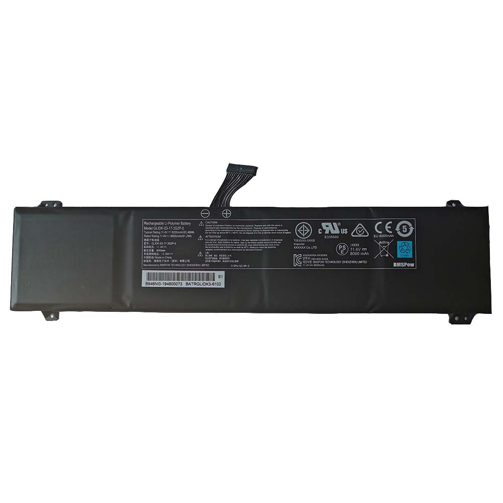 Getac GLIDK-03-17-3S2P-0 replacement battery