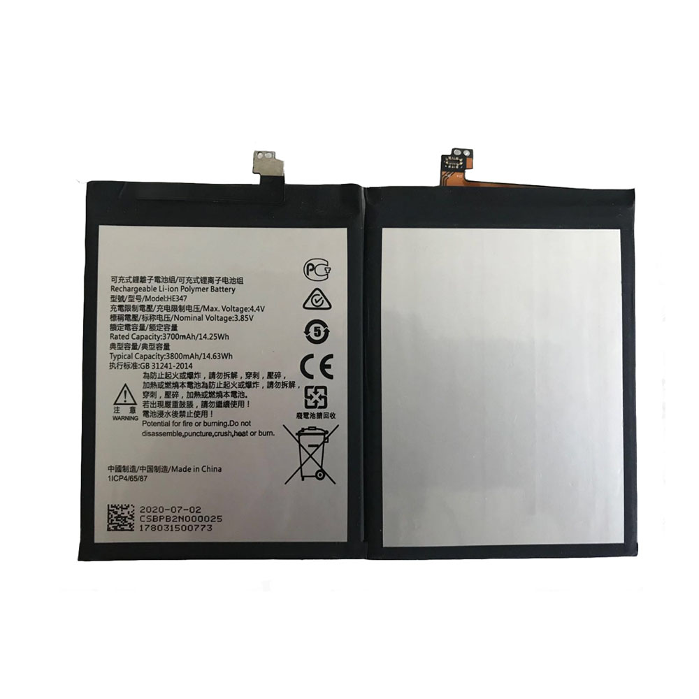 Replacement for Nokia HE347 battery