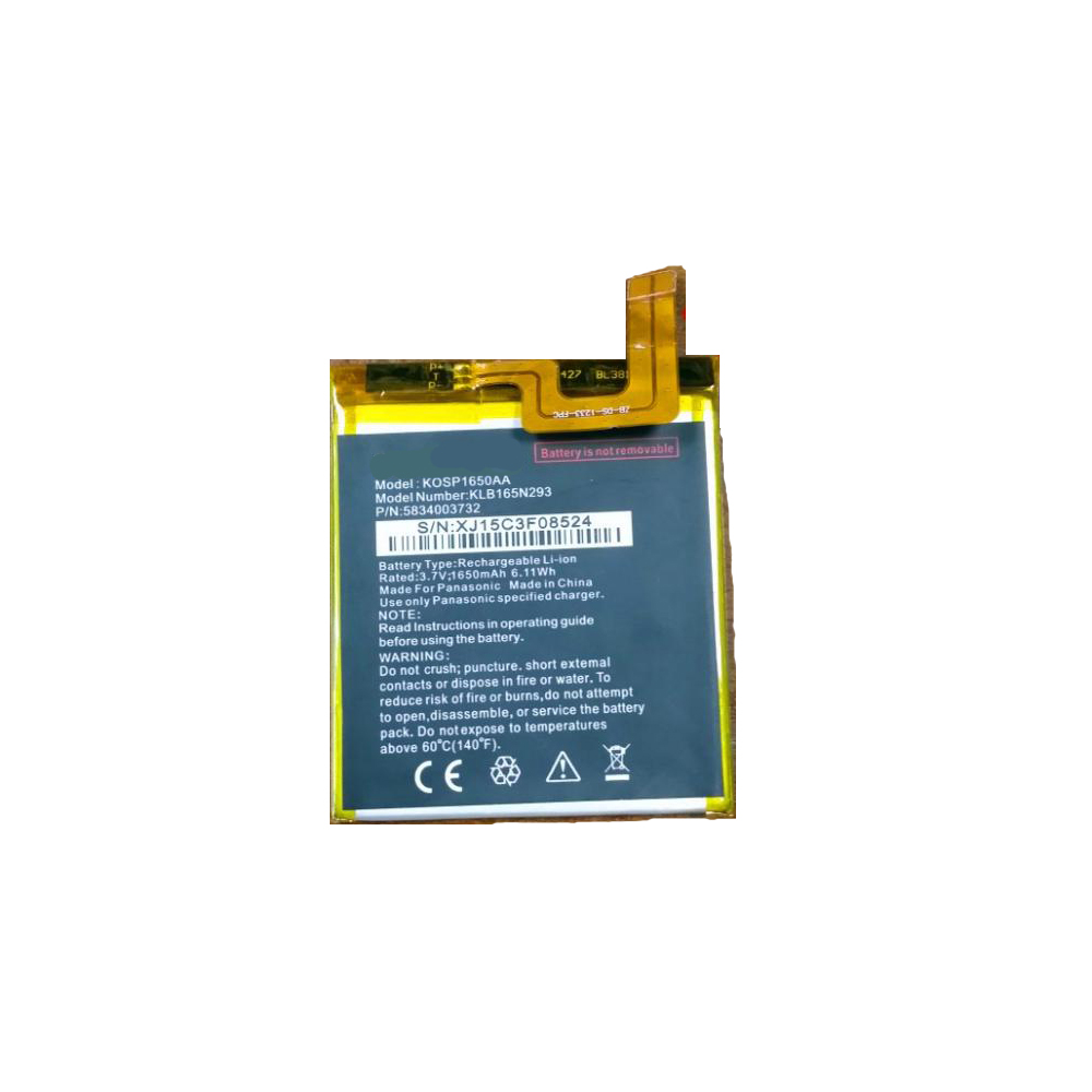 Panasonic KLB165N293 replacement battery