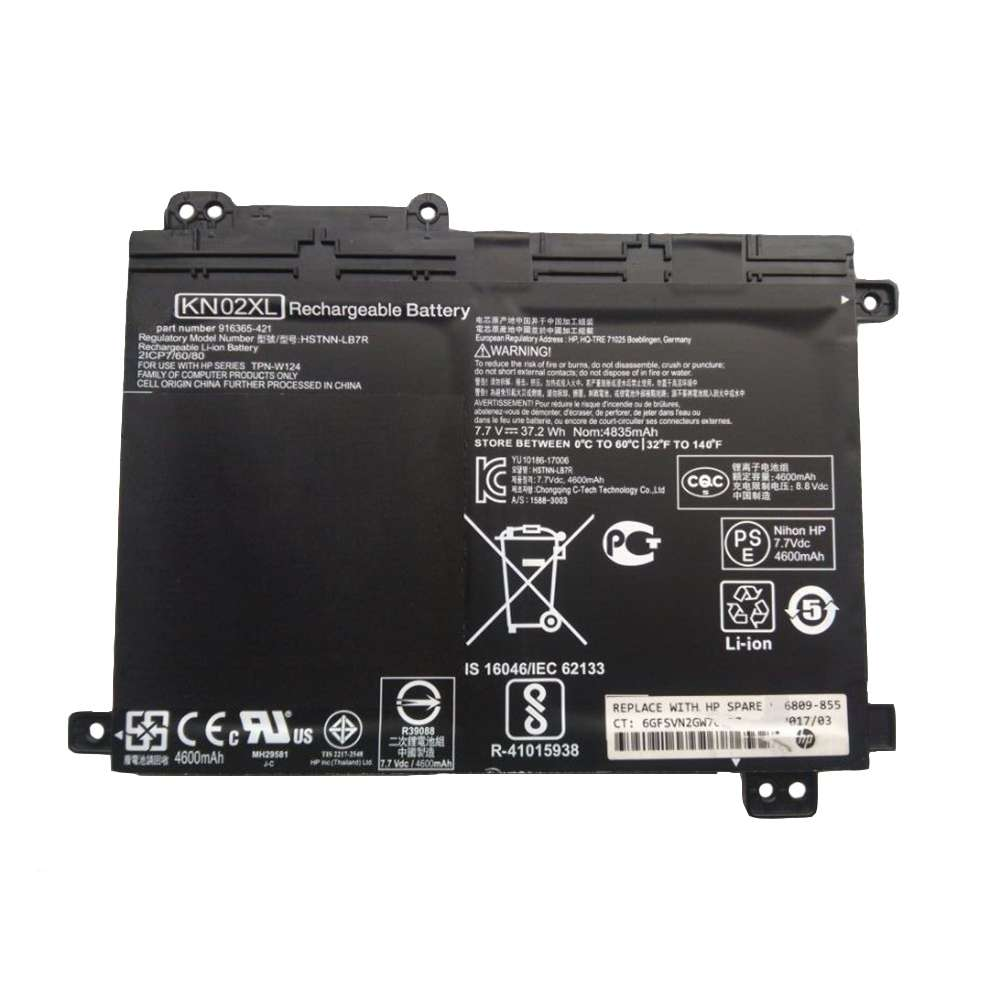 Replacement for HP KN02XL battery