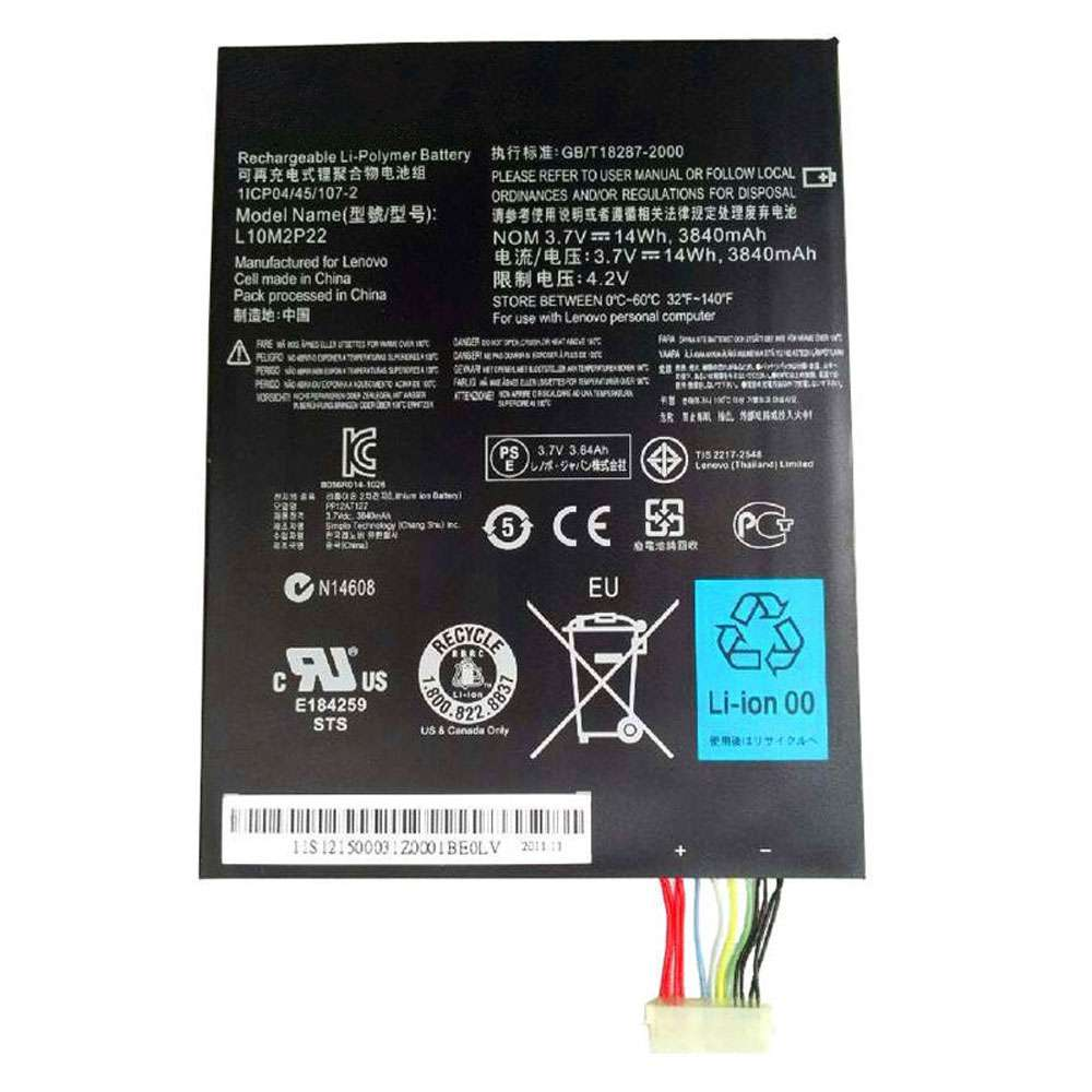 Replacement for Lenovo L10M2P22 battery