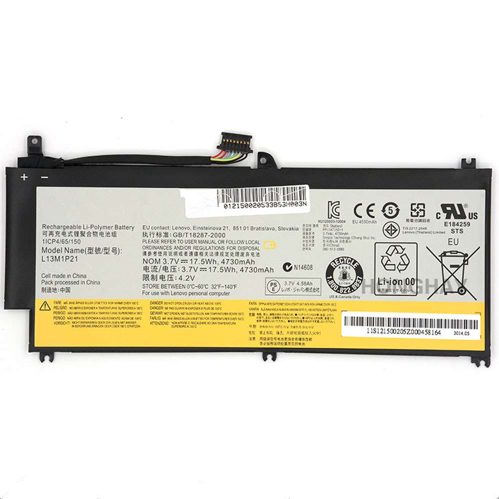 Replacement for Lenovo L13L1P21 battery