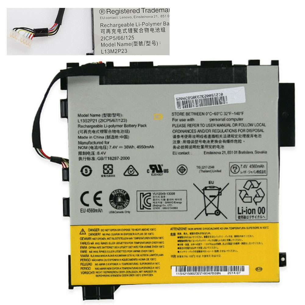 Lenovo L13S2P21 replacement battery