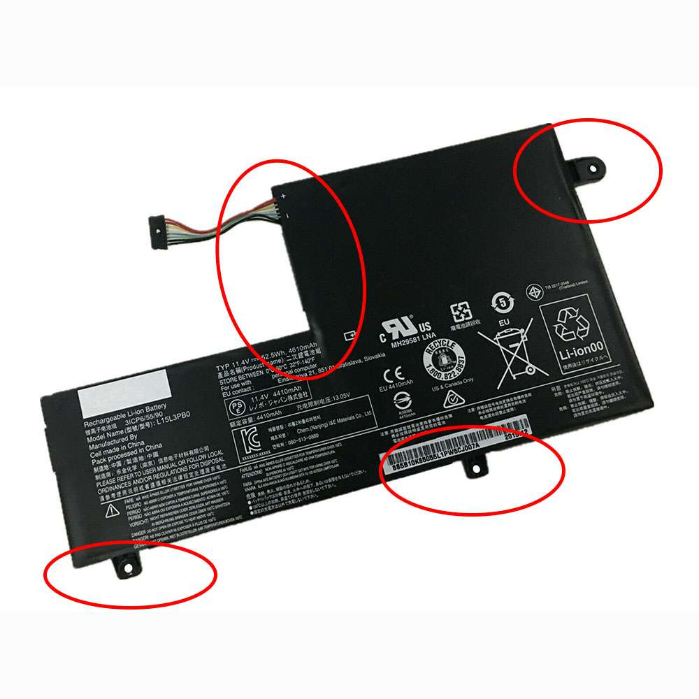 Replacement for Lenovo L15M3PB0 battery