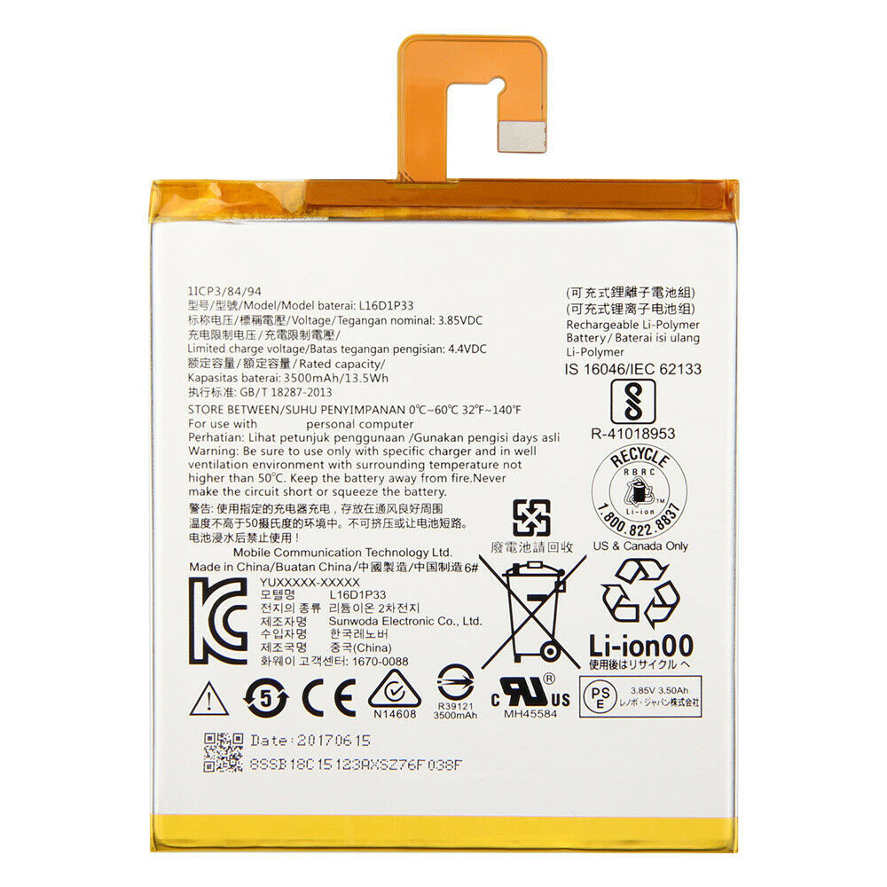 Lenovo L16D1P33 replacement battery