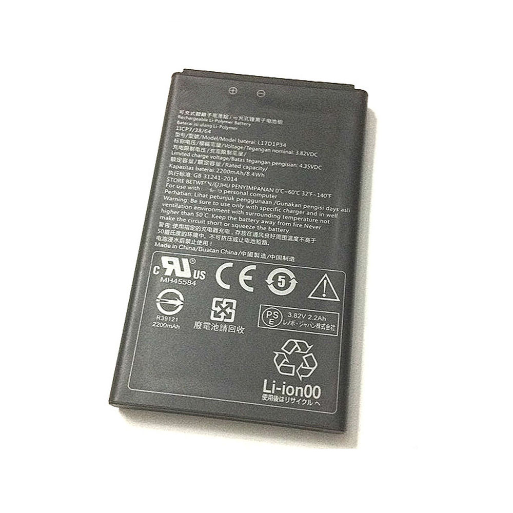 Replacement for Lenovo L17D1P34 battery
