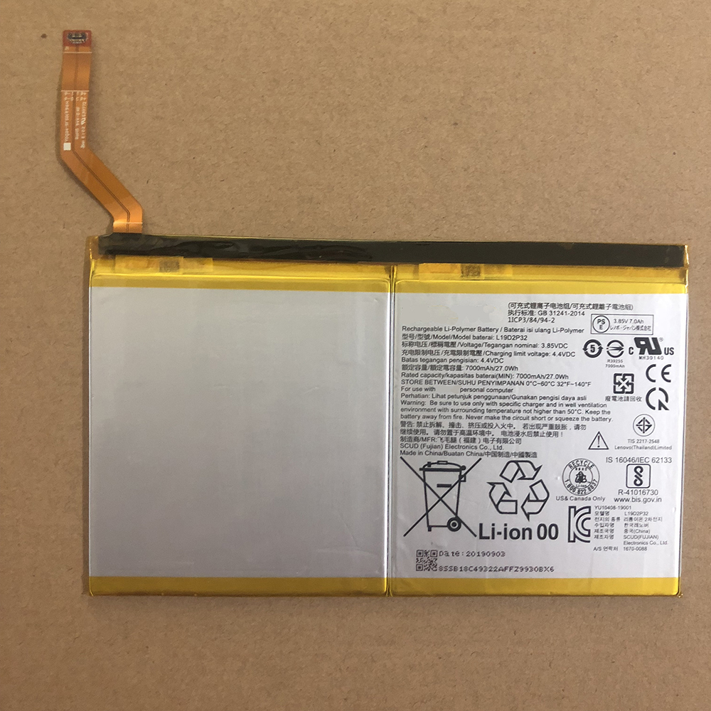 Replacement for Lenovo L19D2P32 battery