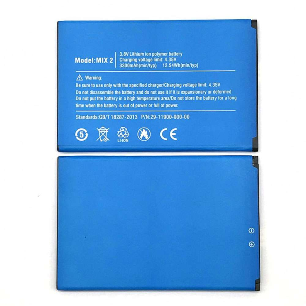 Replacement for Ulefone MIX_2 battery