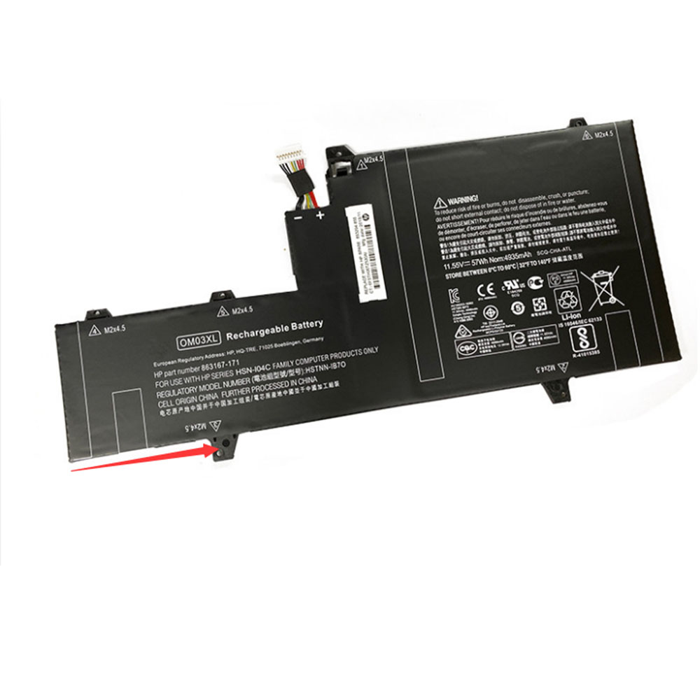 Replacement for HP OM03XL battery