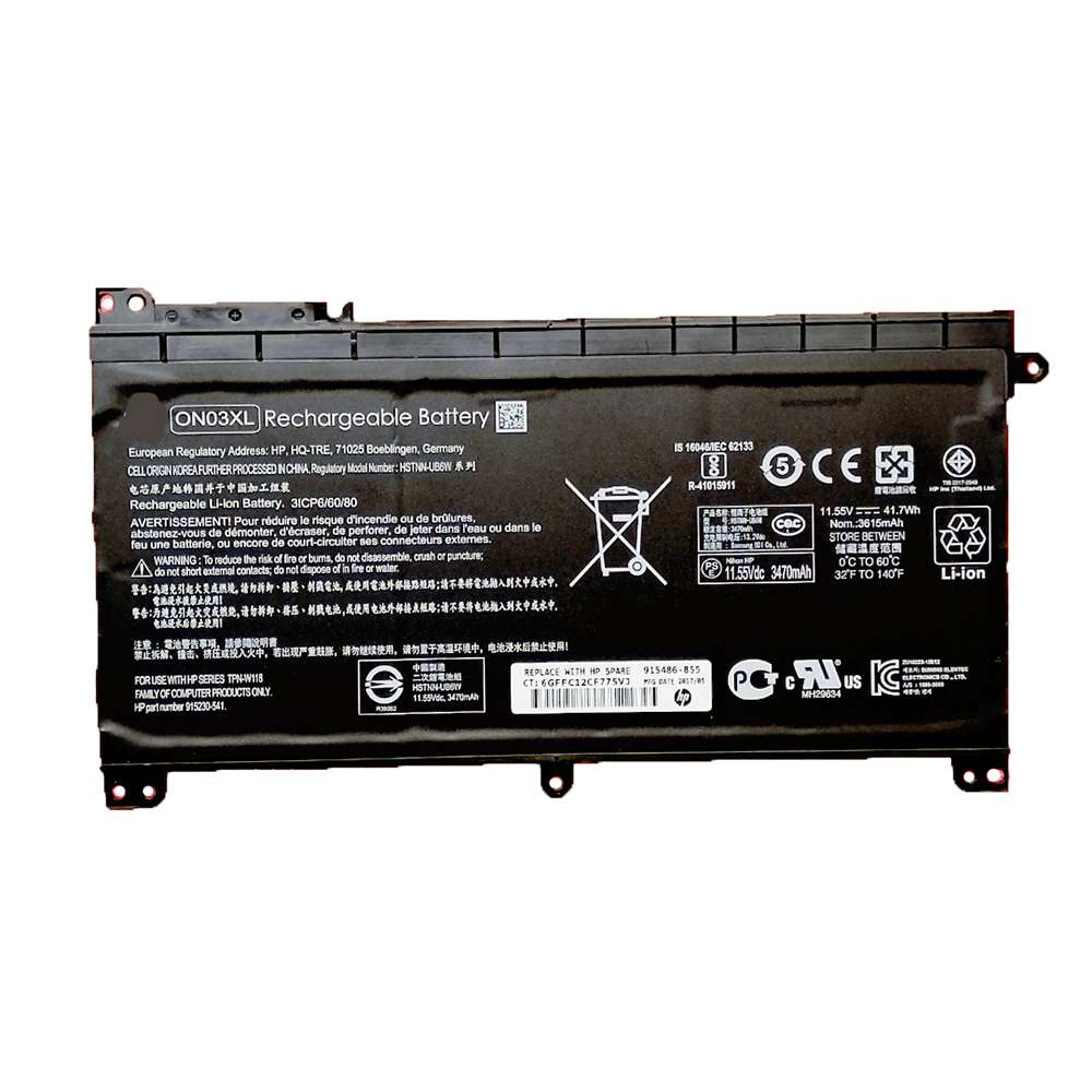 Replacement for HP ON03XL battery