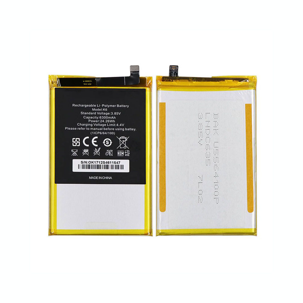Oukitel K6 replacement battery