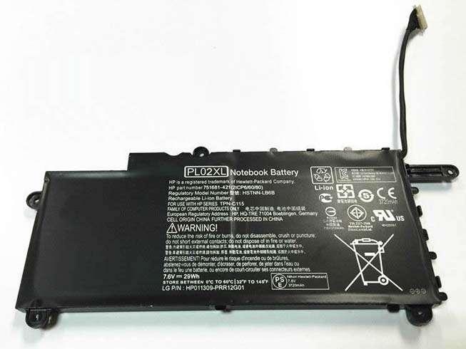 HP PL02XL 751875-001 Hstnn-lb6b Tpn-c115  Laptop Akku