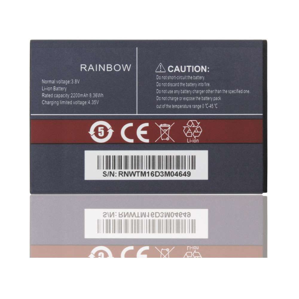 Replacement for Cubot Rainbow battery