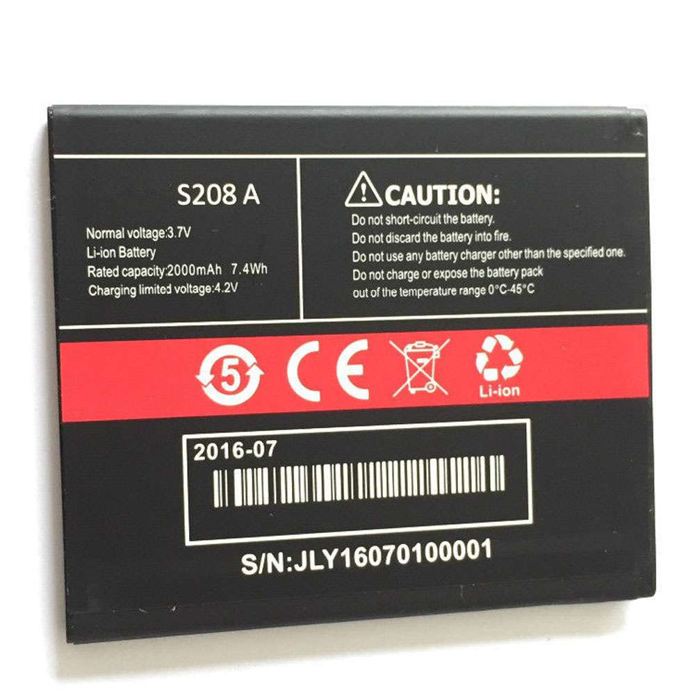 Replacement for CUBOT S208A battery
