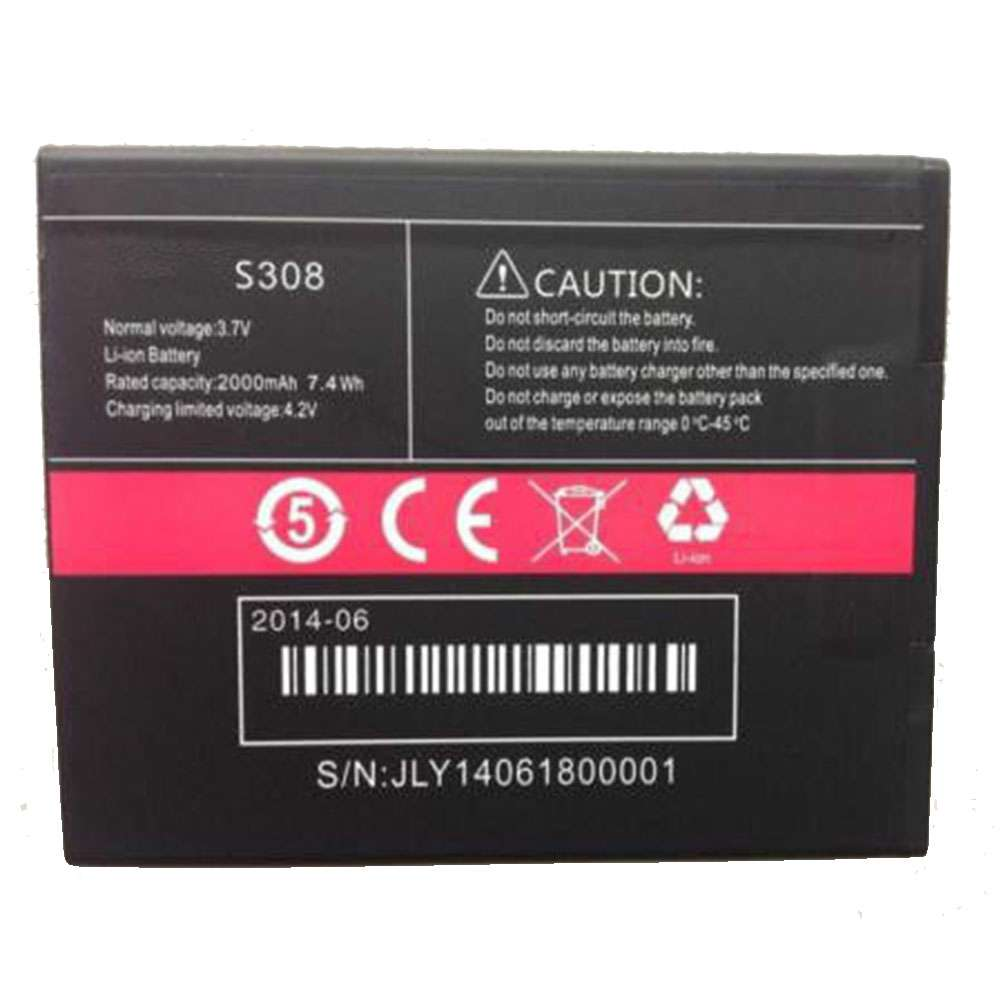Replacement for Cubot S308 battery