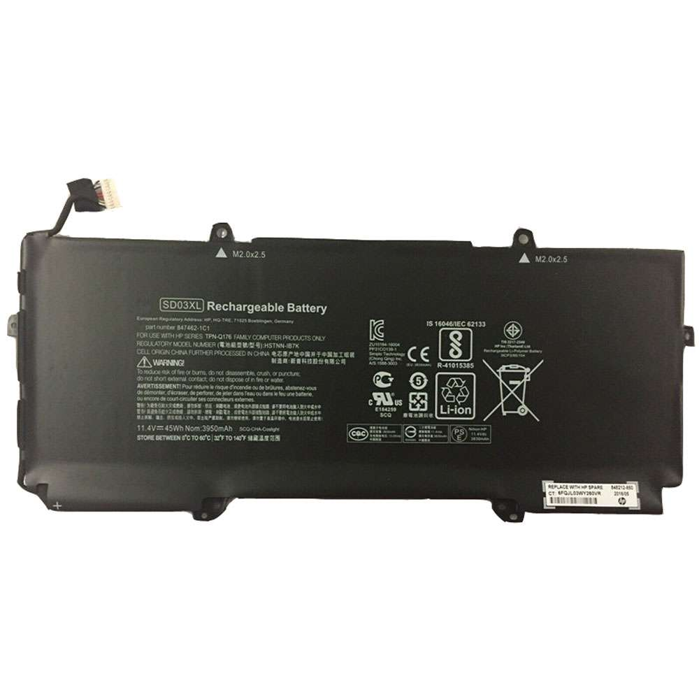 Replacement for HP SD03XL battery