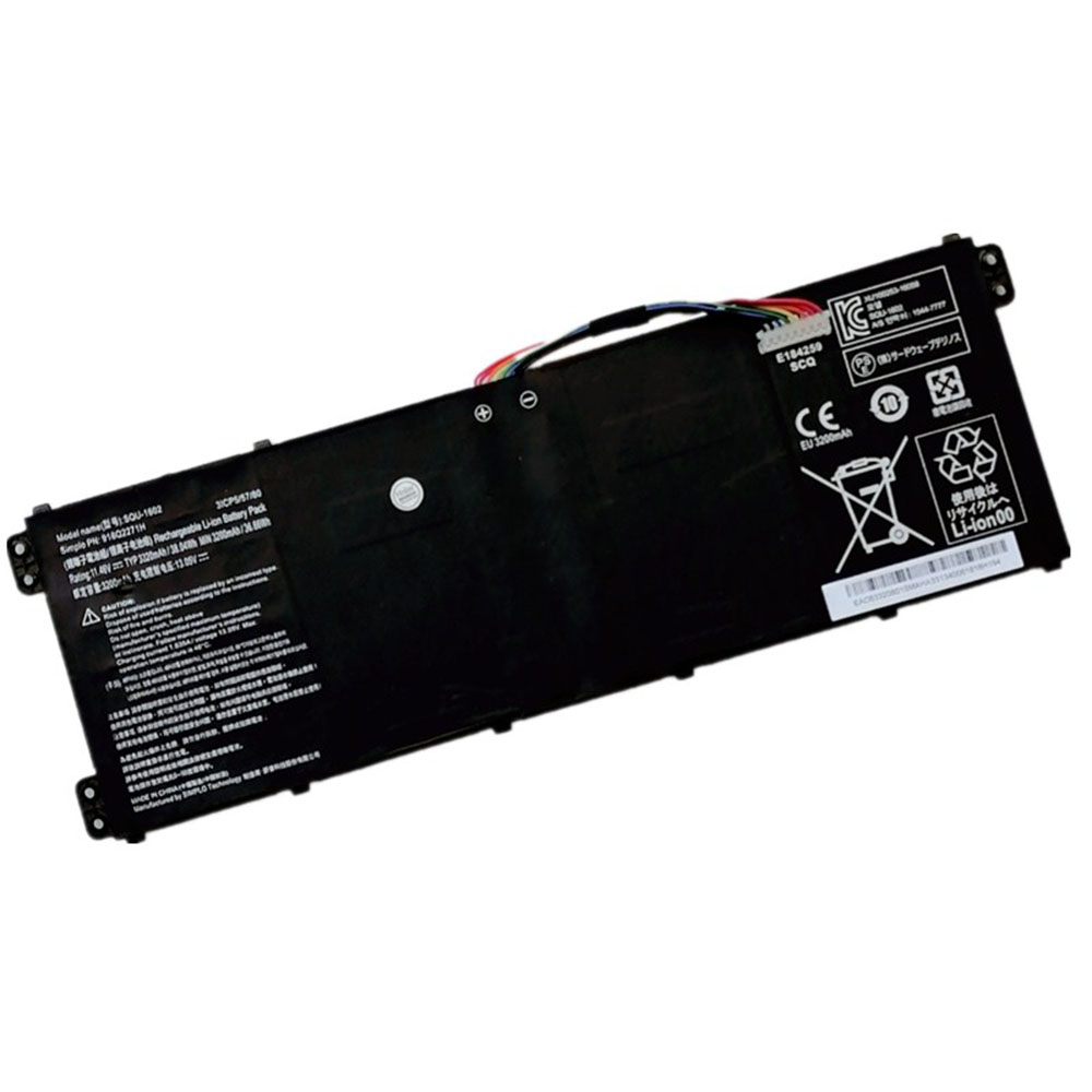 Replacement for Hasee SQU-1602 battery