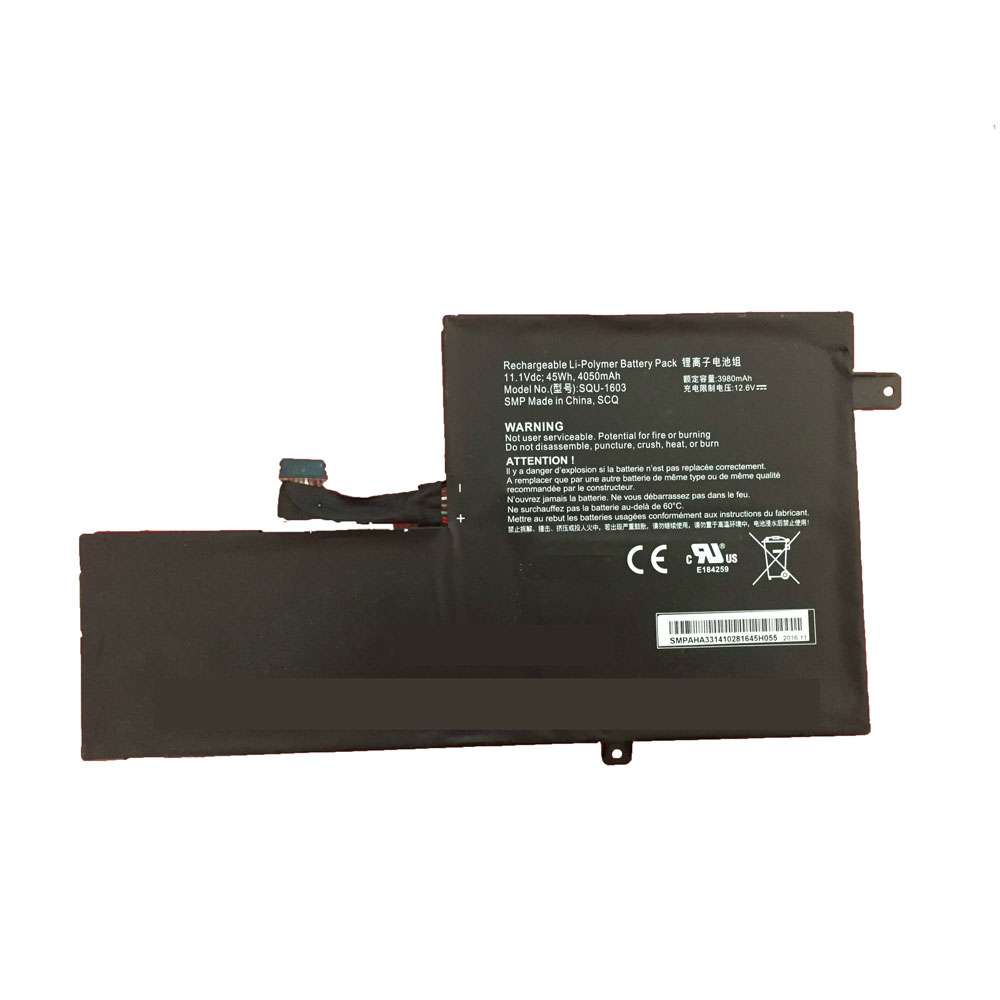 Replacement for Hasee SQU-1603 battery