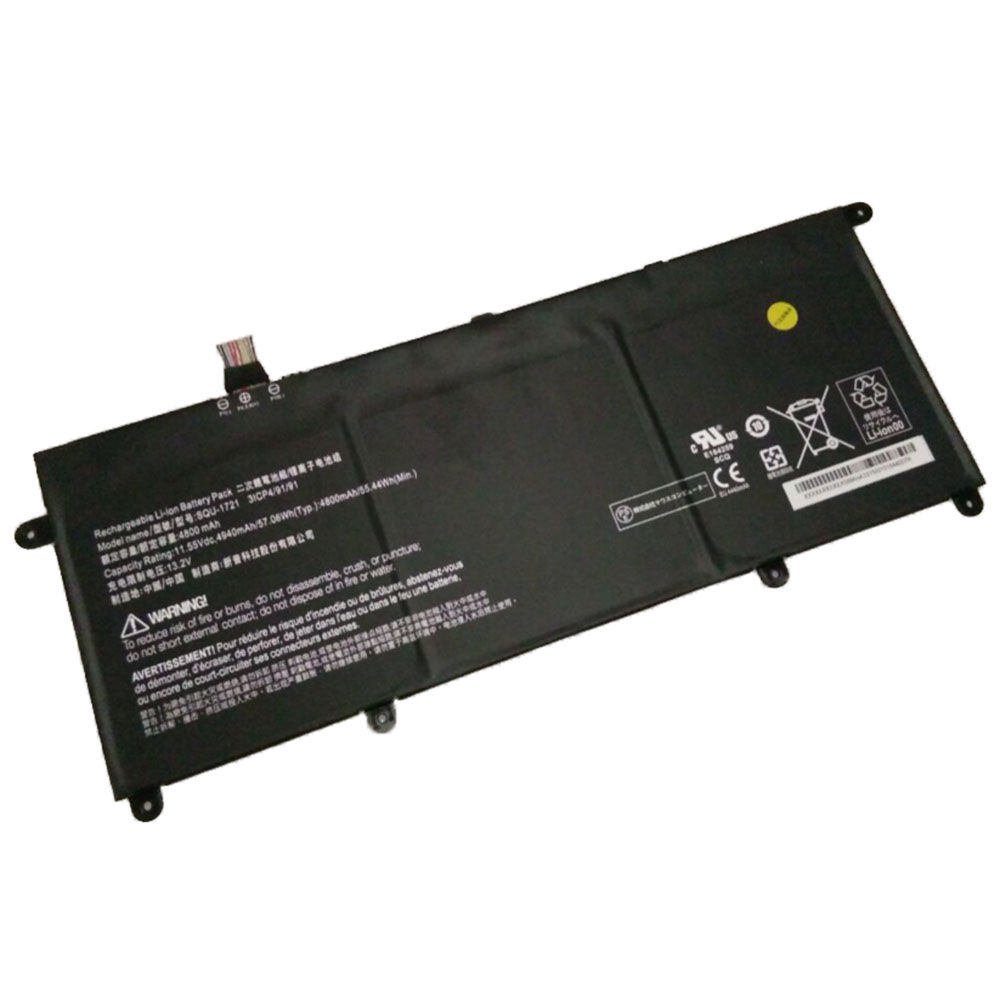 Replacement for Hasee SQU-1721 battery
