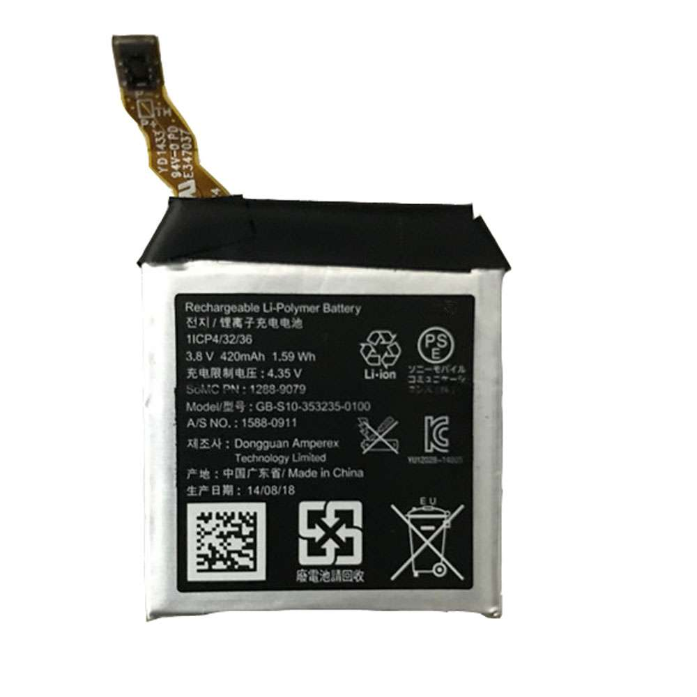 Replacement for Sony GB-S10-353235-0100 battery