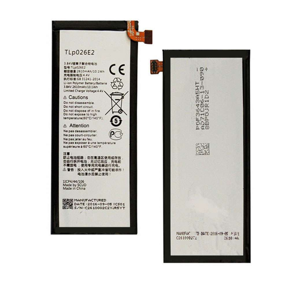 Replacement for Alcatel TLp026E2 battery