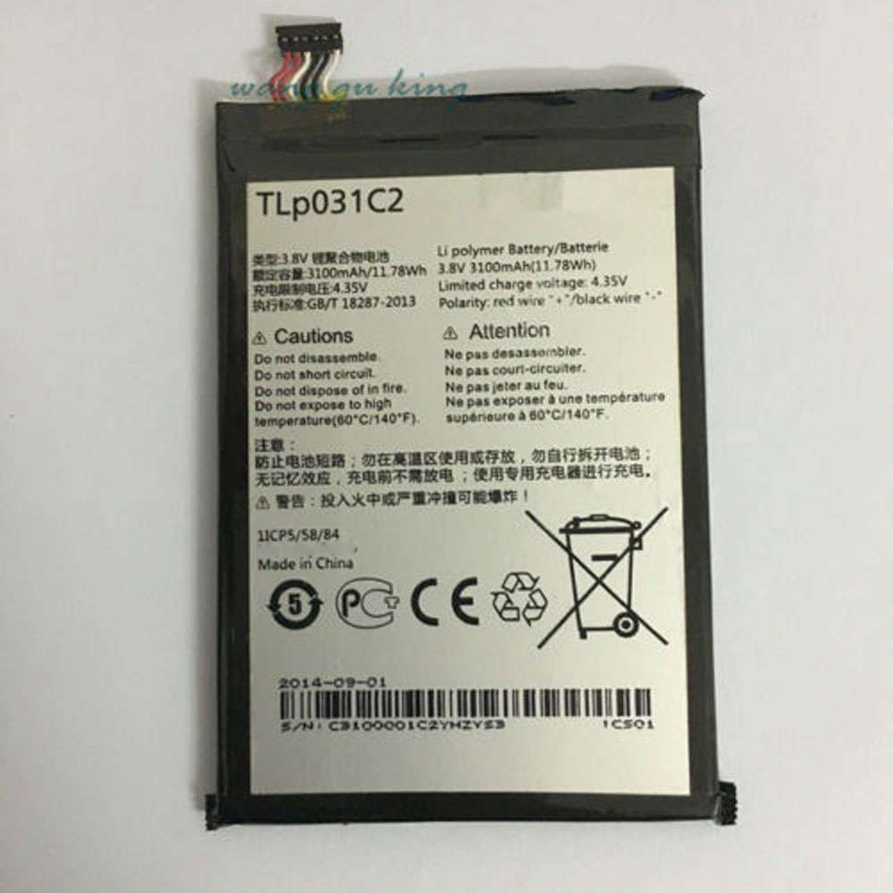 Replacement for Alcatel TLp031C2 battery